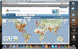 HealthMap Homepage