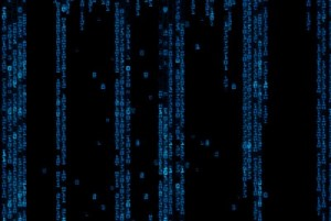 It's raining code, and apparently we're in the Matrix. Via Shutterstock