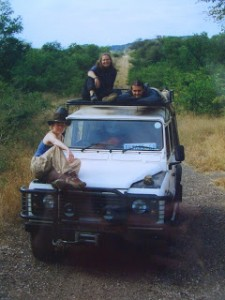 Researchers on a field survery in South  Africa in 2004 (photo by Dr. Sykes)