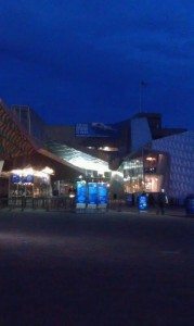 The Aquarium at night, courtesy of my cell phone.