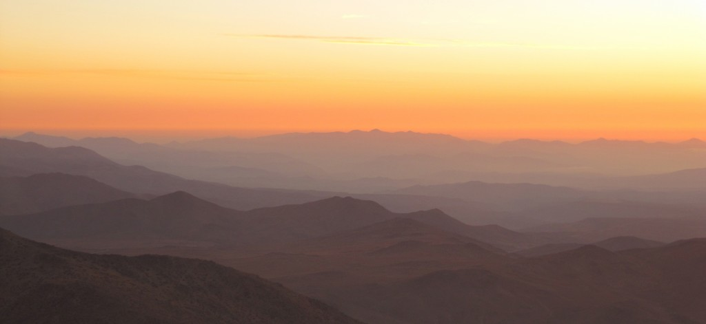 Sunset from the Las Campanas Observatory in Chile, courtesy of Elisabeth Newton.