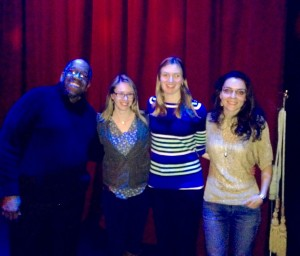 After the show with my amazing co-storytellers. Photo by Brian J. Abraham.